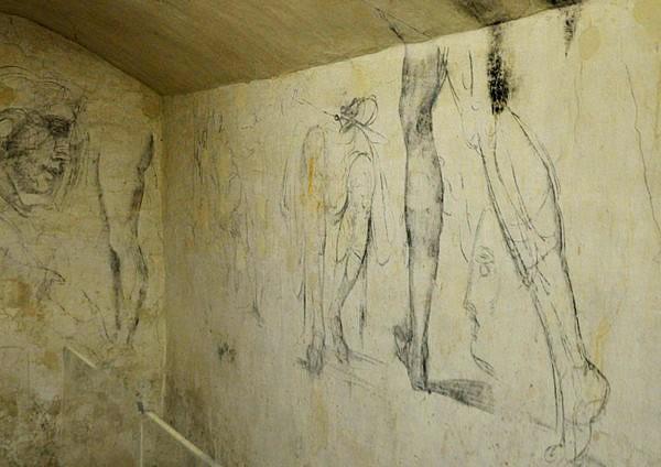 Michelangelo e i graffiti della stanza segreta come for Disegni della stanza del fango