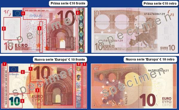 Banconote euro nuove