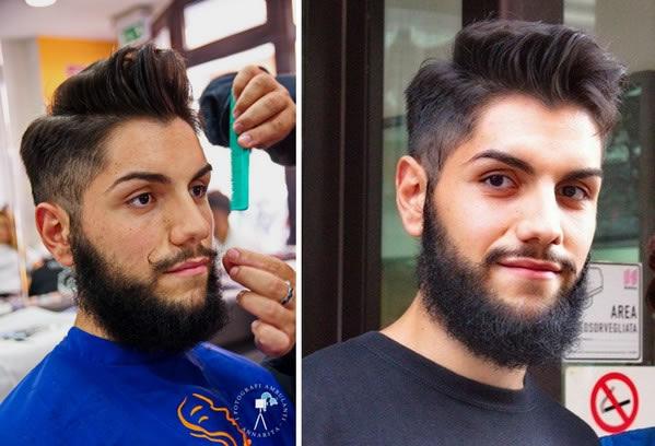 baffi e capelli