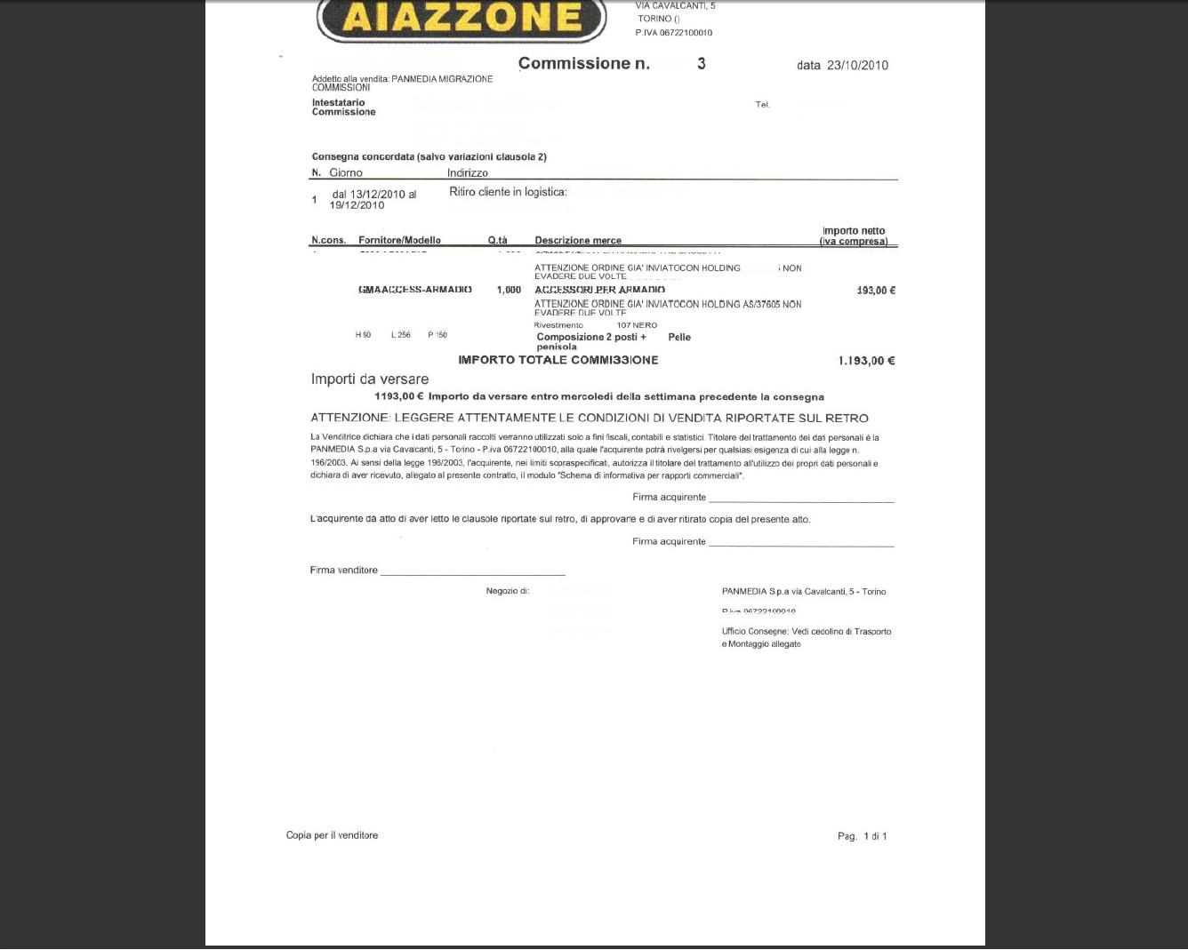 Aiazzone: sbocco difficile per Panmedia, dissidi interni sul piano di rilancio >> Economia e ...