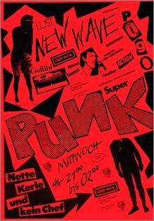 Alec von Tavel Poster per le serate Super Punk Club Hey Zurich 1977