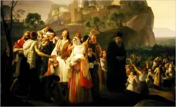 F. Hayez, 'Gli abitanti di Parga che abbandonano la loro patria', 1826-31