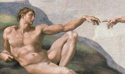 Michelangelo Buonarroti, 'Adamo' (particolare dalla Volta della Sistina), 1508-1512 © Musei Vaticani
