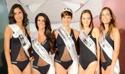 La graduatoria finale di Miss Lazio 2015. Da sinistra: Federica Manna, Francesca Serra, Alice Sabatini, Benedetta Bardani, Martina Nobile (Foto ©Rocco Almagno)