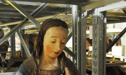 Giovannantonio di Giordano da Norcia, 'Madonna in trono'. Castelluccio di Norcia, Chiesa di Santa Maria Assunta (Foto ©Massimo Achilli-SABAP Umbria)