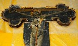 Nicola di Ulisse da Siena, 'Crocefisso'. SantEutizio (Preci), chiesa abbaziale (Foto ©Massimo Achilli-SABAP Umbria)