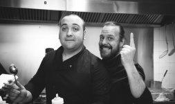 A sinistra lo Chef Renato Bernardi con il suo braccio destro Alessio Rapo