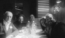 Da sinistra il tenente colonnello dell'Aeronautica Militare Massimo Morico, il founder della rete d'Amore&d'Italia Teodoro Mandato, Alessio Rapo e lo Chef Renato Bernardi