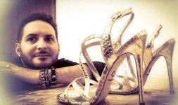 Oronzo De Matteis ed i suoi sandali glam realizzati per l'attrice Elisabetta Pellini