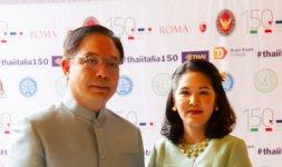 L'Ambasciatore del Regno di Thailandia Tana Weskosith e la Sua Consorte Mrs. Jitpachong