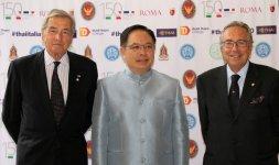 Da sinistra: il Console Onorario della Thailandia a Genova Franco Novi, S.E. l'Ambasciatore del Regno di Thailandia Mr. Tana Weskosith e il Console Onorario della Thailandia a Torino Achille Benazzo