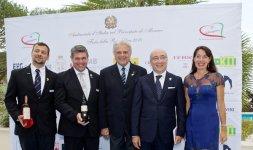 L'Ambasciatore italiano nel Principato di Monaco, S.E. Cristiano Gallo e sua moglie Sabrina Ducceschi insieme all'azienda vinicola trevigiana Montelvini