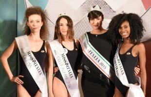 Da sinistra: Daniela Romagnoli (Miss Cinema), Silvia Pucci (Miss Colli Albani 2016), Alice Sabatini (Miss Italia 2015) e Francesca Stagn� (Miss Rocchetta)