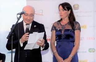 L'Ambasciatore italiano nel Principato di Monaco, S.E. Cristiano Gallo e sua moglie Sabrina Ducceschi