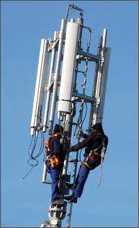 Installazione antenna di telefonia mobile in via Lina Cavalieri, Roma