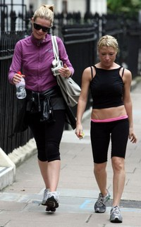 Da sinistra l'attrice Gwyneth Paltrow e Tracy Anderson