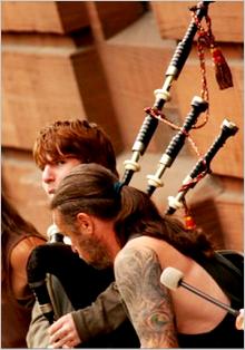 Il gruppo scozzese 'Clanadonia'
