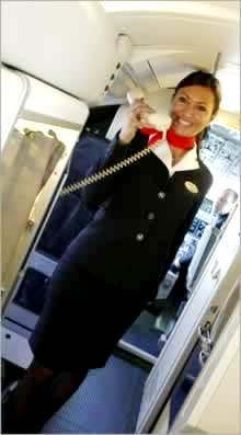 Una hostess della Darwin Airline