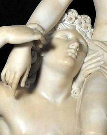 John Gibson, 'Psiche trasportata dagli Zefiri', particolare, Roma Galleria Nazionale Arte Antica