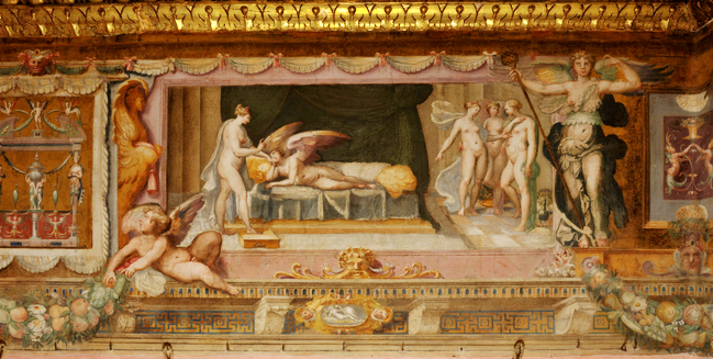 Perin del Vaga, fregio della sala di Amore e Psiche in Castel Sant?Angelo, particolare