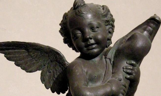 Andrea del Verrocchio, 'Putto con delfino', particolare