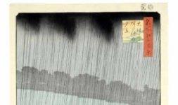\'Ohashi. Acquazzone ad Atake\', serie: Cento vedute di luoghi celebri di Edo, 1857