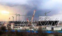 Il cantiere del parco olimpico [london2012.com]