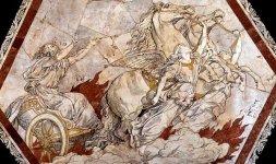 Alessandro Franchi, 'Ascensione di Elia sul carro di fuoco' (particolare)