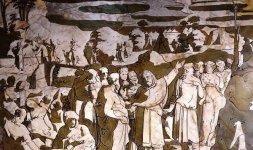 Domenico Beccafumi, 'Storie di Mosè sul Sinai' (particolare)