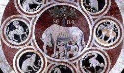 'Lupa che allatta Romolo e Remo' (particolare)