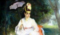 'Femme à l'ombrelle assise dans le jardin', 1872