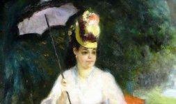 'Femme à l'ombrelle assise dans le jardin', 1872 (particolare)