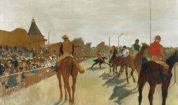Il défilé (Cavalli da corsa davanti alle tribune); 1866-1868 - © RMN (Musée d'Orsay) / Hervé Lewandowski - Réunion des Musée Nationaux/ distr. Alinari