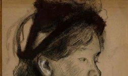 Giovane donna che si annoda il nastro del cappello, 1882 circa - © RMN (Musée d'Orsay) / Jean-Gilles Berizzi - Réunion des Musée Nationaux/ distr. Alinari