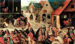 Pieter Brueghel il Giovane,'Le sette opere di misericordia', 1616-1618 ca.