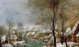 Pieter Brueghel il Giovane, 'Trappola per uccelli', 1605