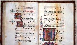 Corale 13.O, c. 59v e 60r, Siena, Duomo, Libreria Piccolomini