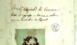 Autoritratto di Canova, frontespizio dell'Album
