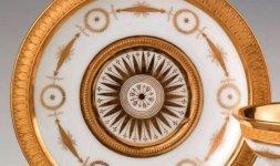 Manifattura Nast, Tazza e piattino, 1810 circa (part.)