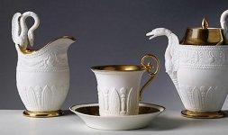 Manifattura Dagoty, riassortito a Doccia, Servito da tè, 1810 circa
