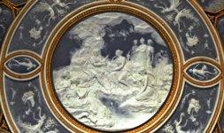 Manifattura di Sèvres,  M.E. Lignereux, Tavolo da centro (Guéridon), 1801, porcellana 1792 (part)