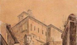 Il portone della panetteria sotto il palazzo di Monte Cavallo