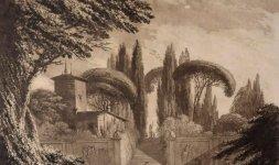 Veduta del giardino di Villa Negroni