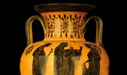 Anfora attica a figure nere Attribuibile alla cerchia del Pittore di Nikoxenos 510 a.C  ca.