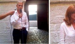 TEGGIANO - Il sindaco Rocco Cimino e l'Assessore al Turismo e Cultura, Sonia Marino, danno il benvenuto ai giornalisti del press tour (Photo ©Francesca Nanni)