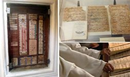 PADULA - Certosa di San Lorenzo a sinistra la tabella dei compiti quotidiani dei monaci certosini