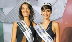 Da sinistra: Claudia Guidi, Miss Roma 2015. Alice sabatini, Miss Lazio 2015 (Foto ©Rocco Almagno)