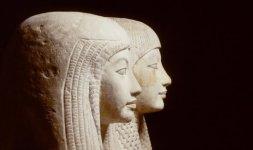Statua della coppia, facente parte del gruppo statuario di Maya e Meryt