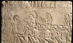 Rilievi con prigionieri Nubiani controllati da soldati egiziani - XVIII dinastia, regno di Tutankhamon (1333-1323 a.C.)