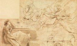 Raffaello, 'Donna seduta alla finestra e angeli', Firenze, Gabinetto Disegni e Stampe degli Uffizi